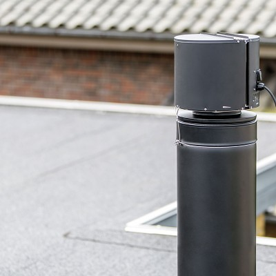 Draftbooster on chimney
