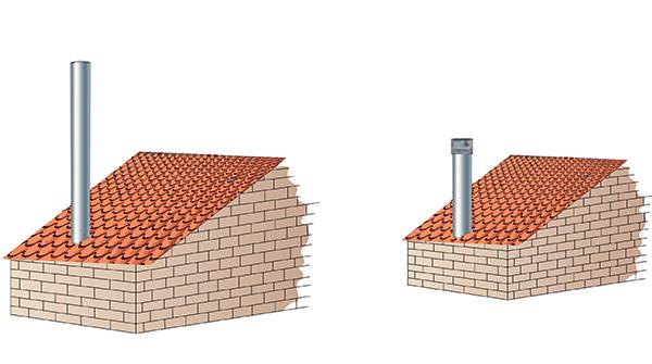 Wysoki komin vs. Draftbooster wyciąg kominowy